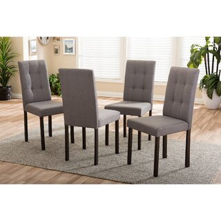 Aiello Upholstered Dining Chair (Set of 4) by Latitude Run SKU:BD164279 Information