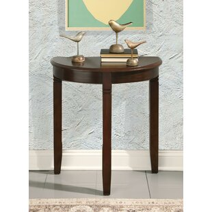 Palen Wooden Half Moon Console Table