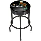 Guinness Feathering Ribbed 29 Swivel Bar Stool by Trademark Global