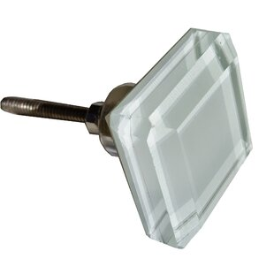Glass Cabinet Square Knob (Set Of 10)