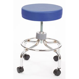 Height Adjusts Brandt Revolving stool with footrest