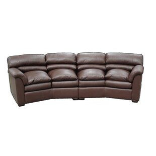 Groovy Canyon Leather Curved Sofa Onthecornerstone Fun Painted Chair Ideas Images Onthecornerstoneorg