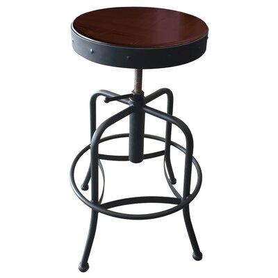 Holland Bar Stool Adjustable Bar Stool Fabric: Upholstery