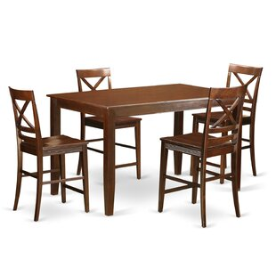 Araminta 5 Piece Counter Height Pub Table Set Alcott Hill