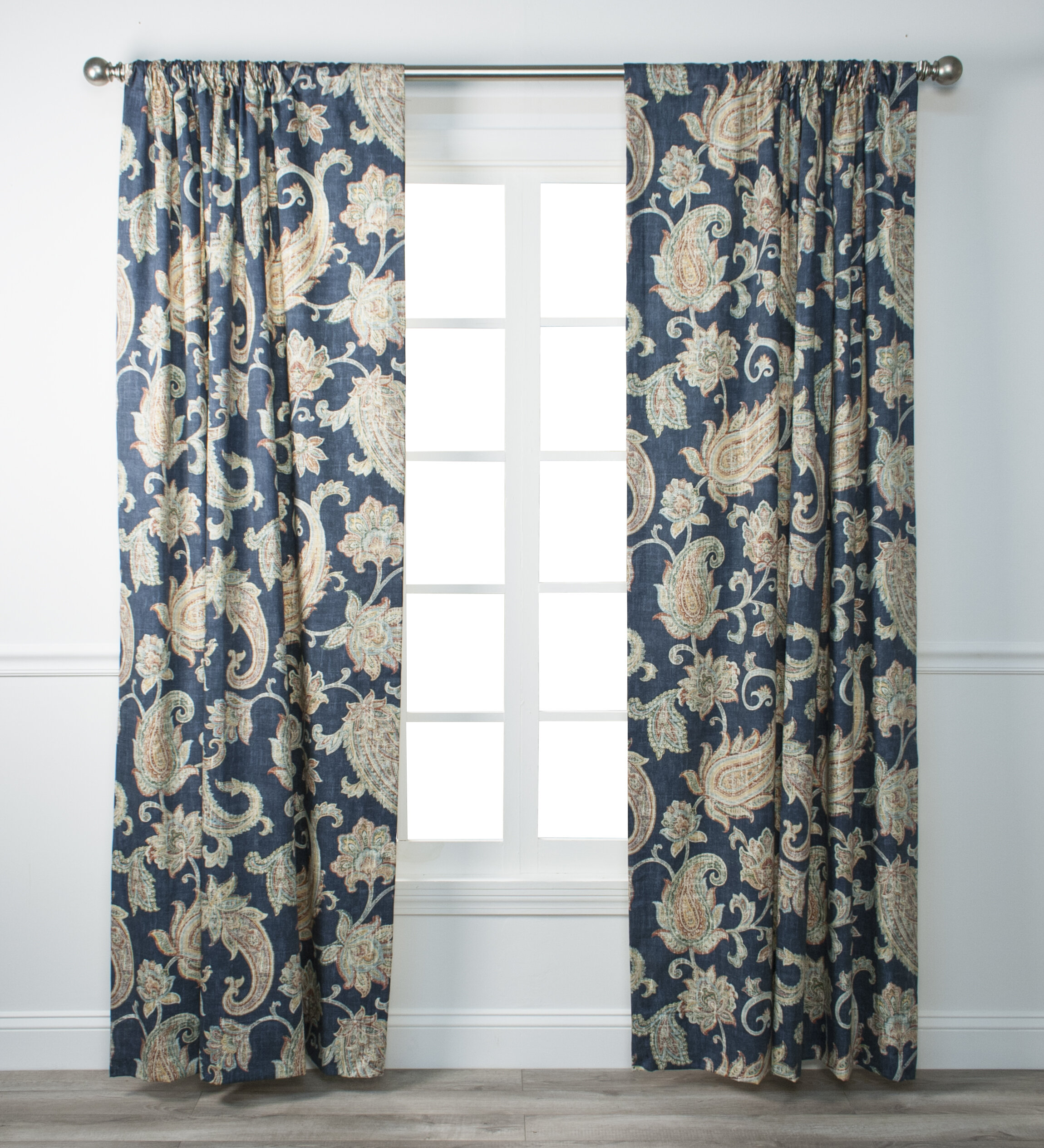 Darby Home Co Gaener Paisley Semi Sheer Rod Pocket Curtains Drapes Wayfair