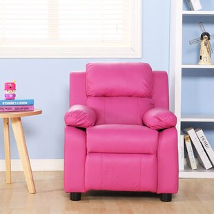 Les Kids Faux Leather Recliner with Storage by Harriet Bee