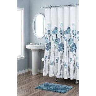 Affordable Petunia Cotton Shower Curtain By Nicole Miller
