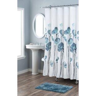 Petunia Cotton Single Shower Curtain By Nicole Miller