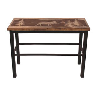 Heston Moose Scene Wood Bench