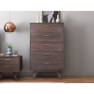 Radcliff Loft Wooden 5 Drawer Chest
