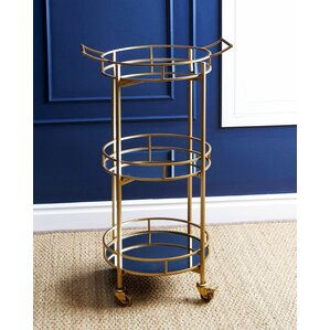 Herald 3 Tier Cylinder Bar Cart by Willa Arlo Interiors