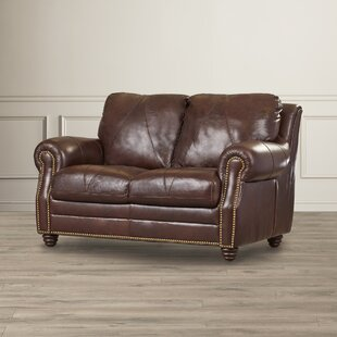 Gardner Leather Loveseat by Darby Home Co