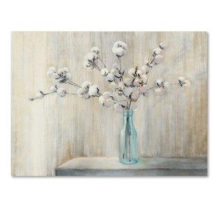 U0027Cotton Bouquetu0027 Print On Wrapped Canvas