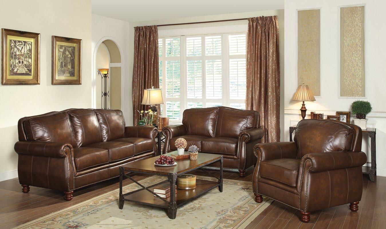 brown leather living room set. Linglestown Configurable Living Room Set Leather Sets You ll Love  Wayfair