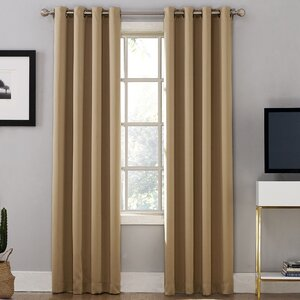 Oslo Home Theater Grade Extreme Blackout Thermal Grommet Single Curtain Panel