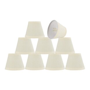Price comparison 5'' Fabric Empire Lamp Shade (Set of 9) By Alcott Hill