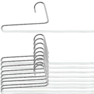 Best Price Double Rod Metal Non-Slip Hanger (Set of 10) By Mawa