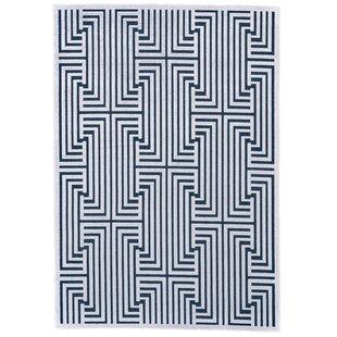 Savings Drew Blue/White Area Rug ByCorrigan Studio