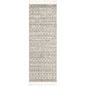 Kress Distressed Charcoal/Cream Area Rug