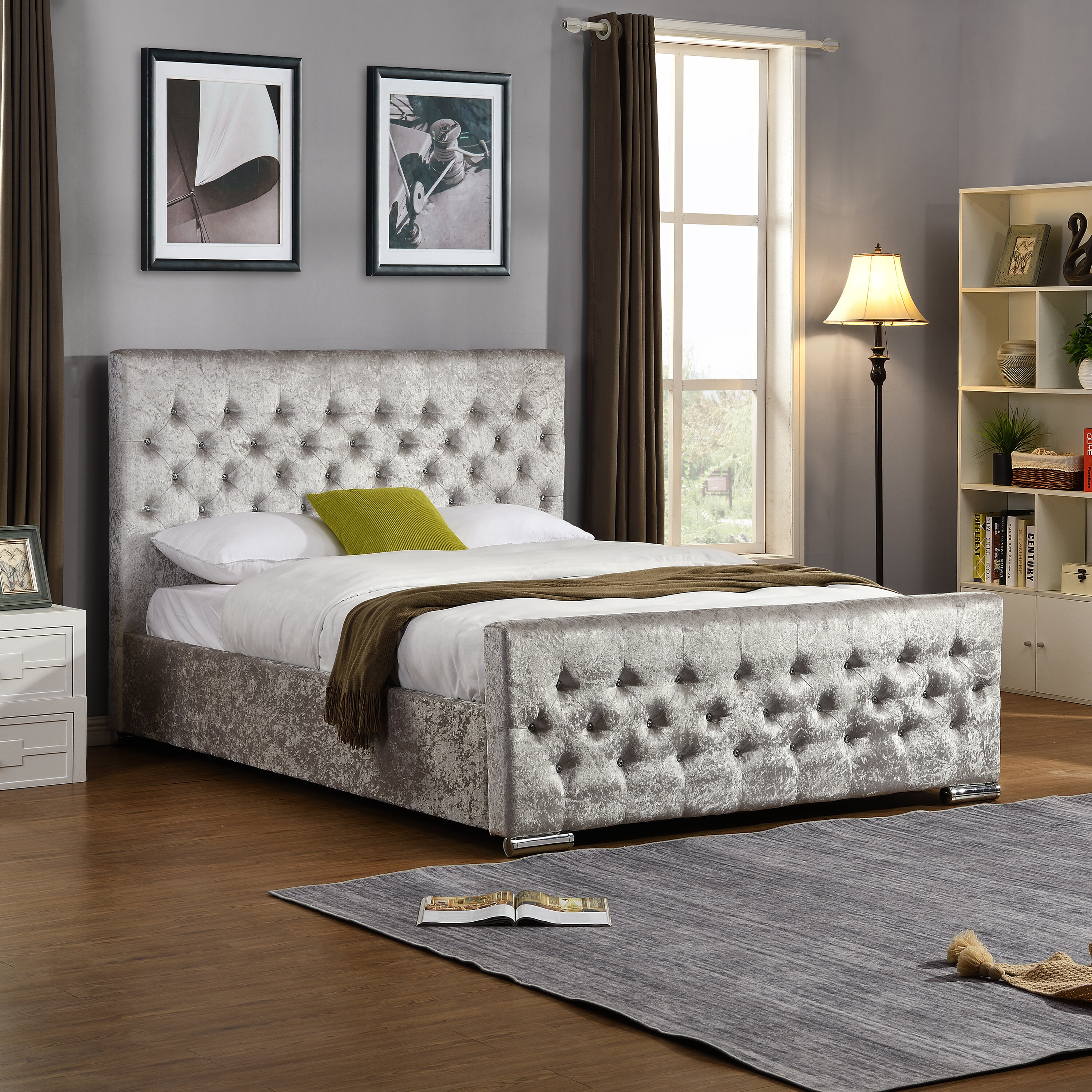 Picture of: Canora Grey Hudson Small Double 4 Upholstered Bed Frame Reviews Wayfair Co Uk