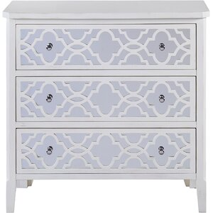 Lelia Mirrored 3 Drawer Chest