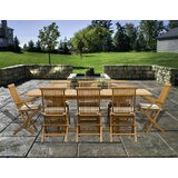 Addilyn 9 Piece Teak Dining Set with Sunbrella Cushions