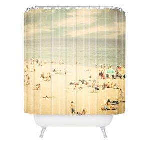 Shannon Clark Vintage Beach Extra Long Shower Curtain