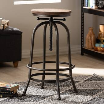 Astounding Trent Austin Design Goethe Adjustable Height Swivel Bar Squirreltailoven Fun Painted Chair Ideas Images Squirreltailovenorg