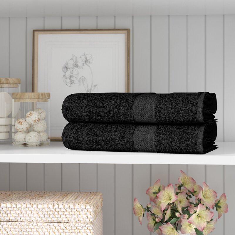 Three Posts Huson 2 Piece Egyptian Quality Cotton Bath Towel Set Reviews Wayfair