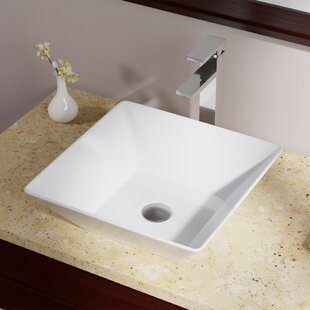Great choice Vitreous China Square Vessel Bathroom Sink ByMR Direct