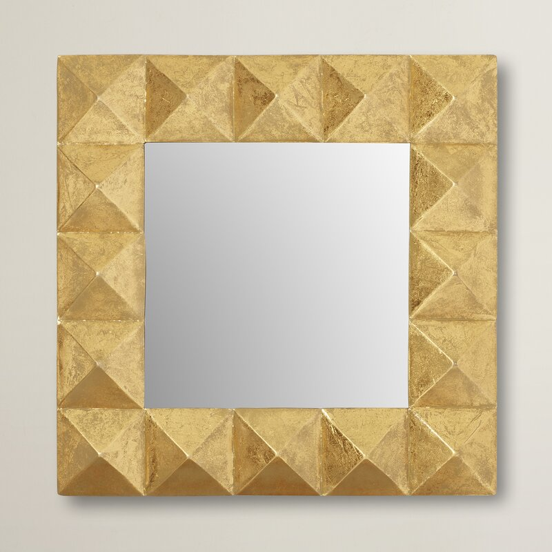 Willa Arlo Interiors Pyramid Square Wall Mirror & Reviews | Wayfair