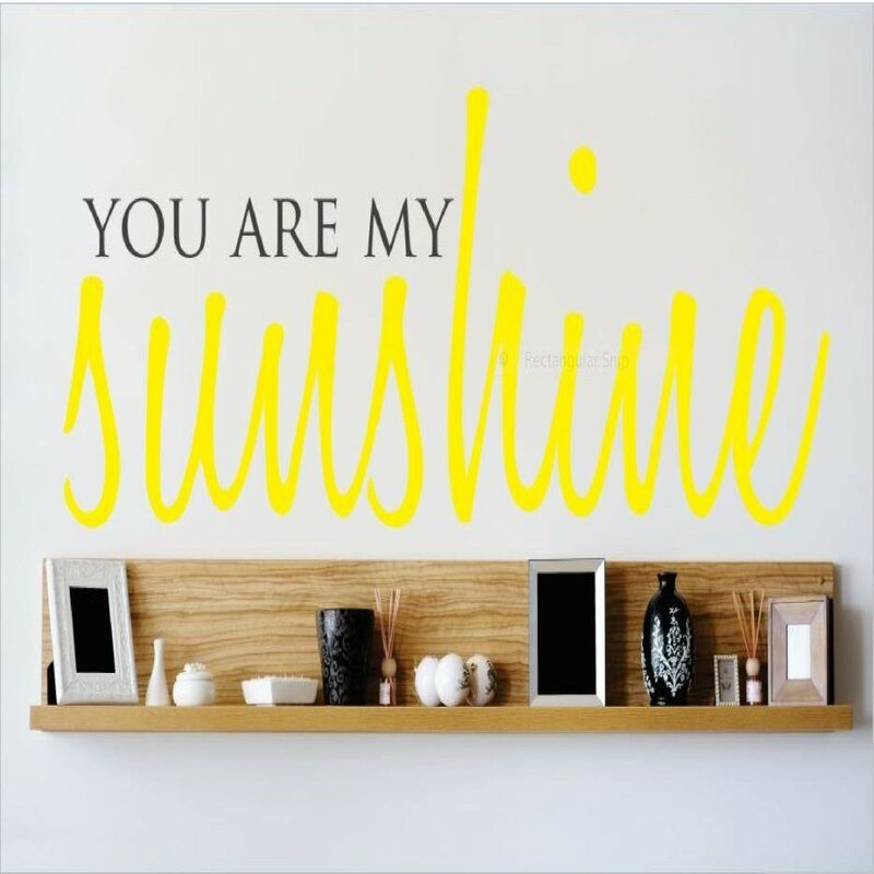 Genial You Are My Sunshine Wall Decal