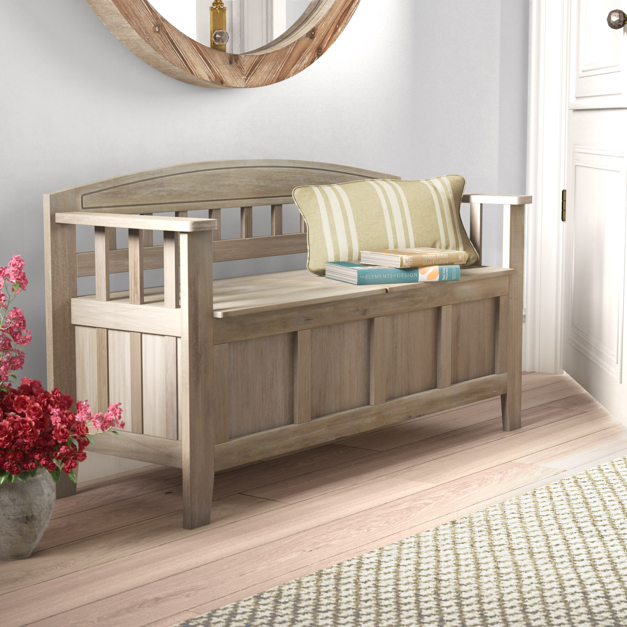 Magnificent Gracie Oaks Apruva Wood Storage Bench Reviews Wayfair Caraccident5 Cool Chair Designs And Ideas Caraccident5Info