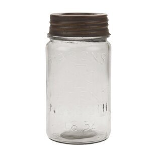Small Mason Storage Jar with Rust Lid