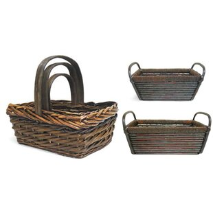 Affordable Rectangle 3 Piece Wicker Basket Set By August Grove
