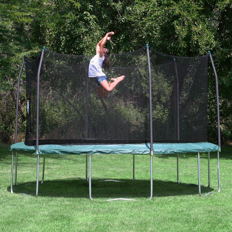 Skywalker 15' Round Backyard Trampoline with Safety ...