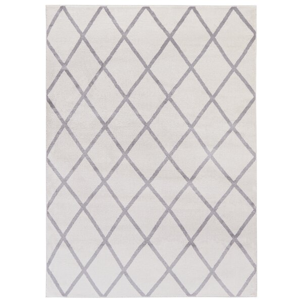 Wrought Studio Kester Moroccan Trellis Ivory/Gray Area Rug & Reviews by Wrought Studio