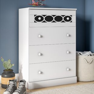 Stephon Contemporary 4 Drawer Chest by Zoomie Kids