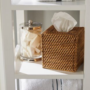 Online Reviews Sylvia Square Rattan Tissue Box Cover ByBeachcrest Home