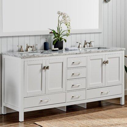 Luxury 84 Inches Bathroom Vanities Perigold
