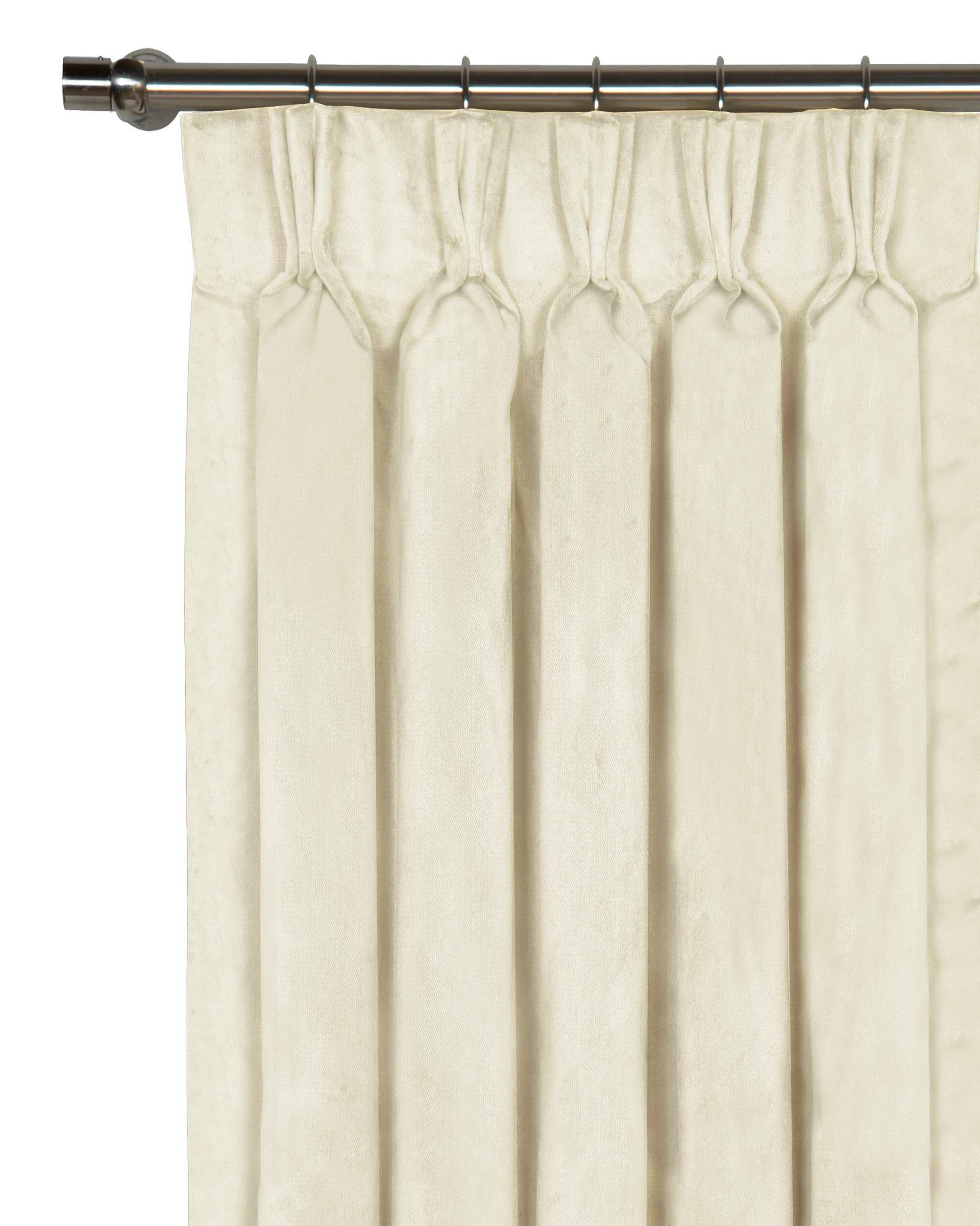 Eastern Accents Nellis Velvet Solid Room Darkening Pinch Pleat Single Curtain Panel Wayfair