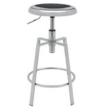 Calarco Metal Adjustable Height Swivel Bar Stool (Set of 2) by Wrought Studio™