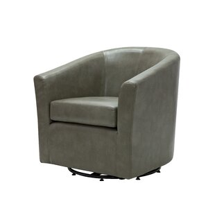 Online Reviews Maughan Swivel Barrel Chair ByIvy Bronx