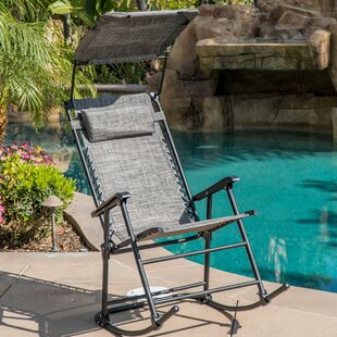 Hadley Shade Block Folding Rocking Chair