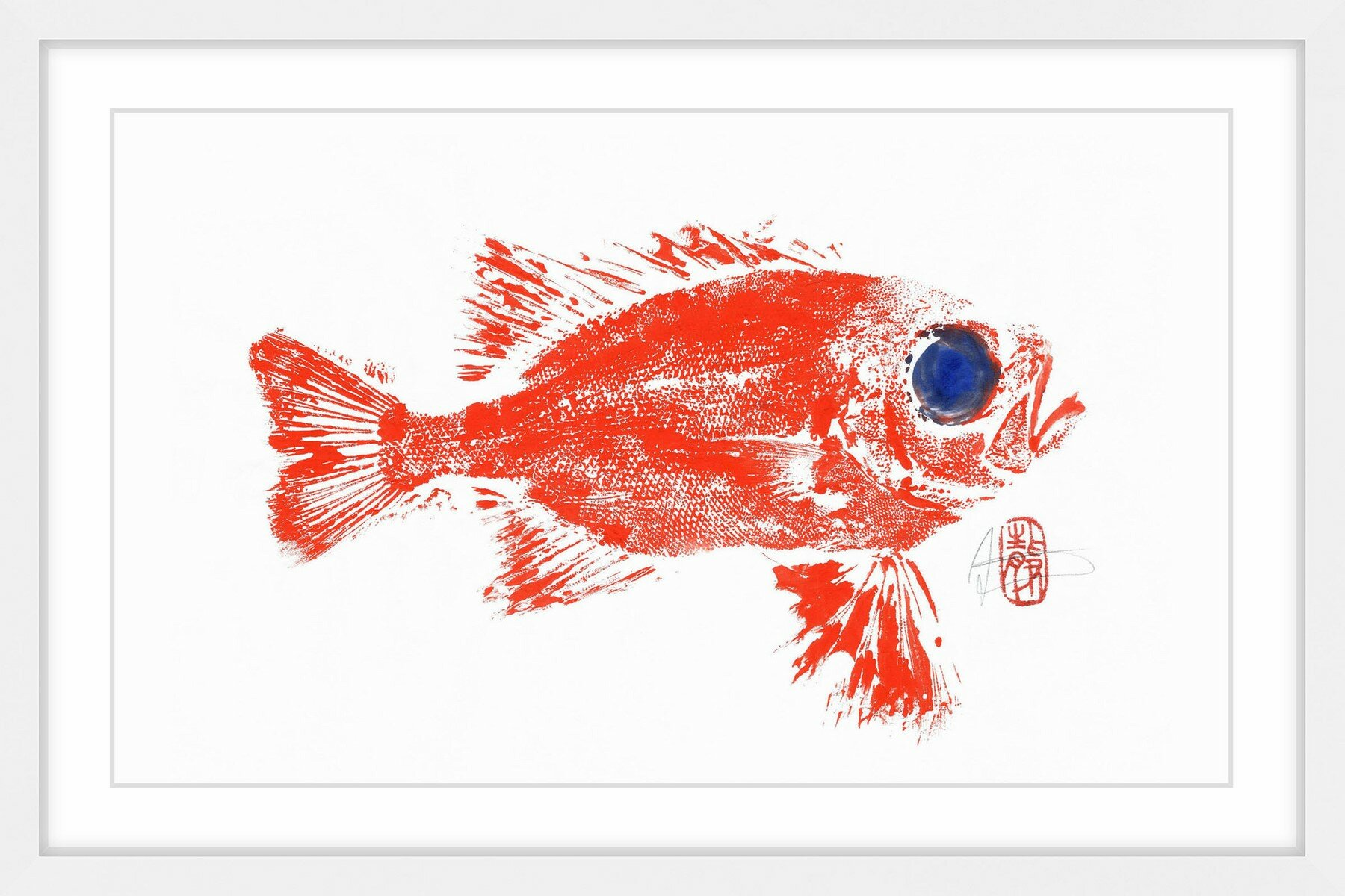 Marmont Hill \'Squirrel Fish\' Framed Painting Print | Wayfair