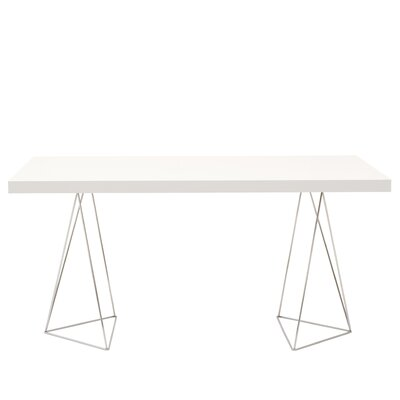 Brayden Studio Durkee Dining Table Color: Pure White, Size: 71