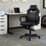 Ellingsworth Racing Style Ergonomic Genuine Leather Gaming Chair by Latitude Run