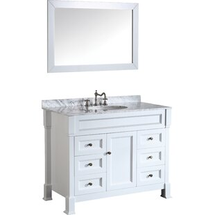 Rutland 43 Single Bathroom Vanity Set with Mirror by Latitude Run