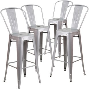 Best Reviews Saif 30.25'' Bar Stool (Set of 4) by 17 Stories
