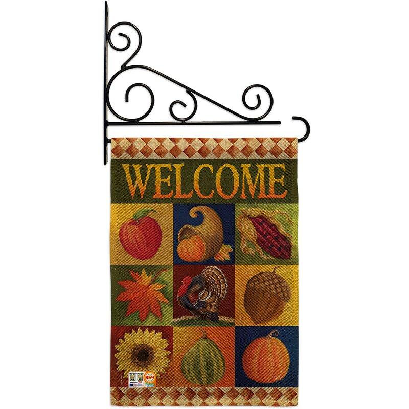 Breeze Decor Autumn Collage 2 Sided Burlap 19 X 13 In Garden Flag Wayfair